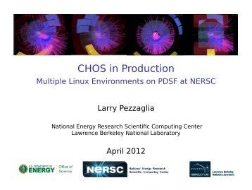 CHOS in Production - National Energy Research Scientific ...