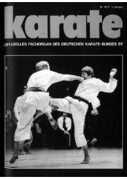 DKB-Fachorgan Nr. 10 - Chronik des deutschen Karateverbandes