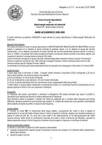 Manifesto a.a. 2008-2009 (pdf, it, 190 KB, 7/14/08) - Università degli ...