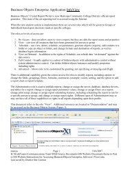 Instructions for Accessing BusinessObjects Enterprise, Infoview _View