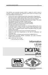 LE230 Decoder Manual - Lenz USA