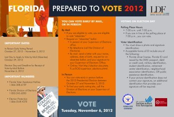 FLORIDA PREPARED TO VOTE 2012
