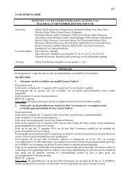 beslissingen gemeenteraad 27 september 2010 - Stad Oudenaarde