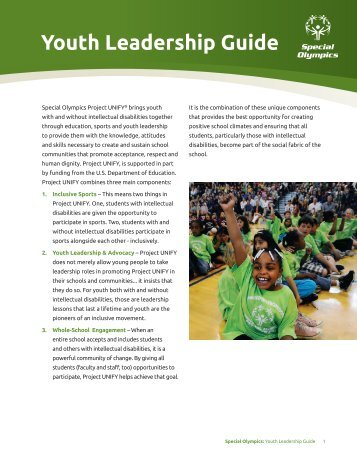 Youth Leadership Guide - Special Olympics - New Hampshire