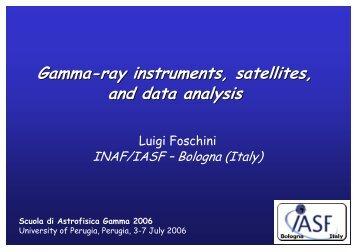 Gamma-ray instruments, satellites, and data analysis