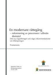 2008-10 En Modernare Rättegång.pdf - Åklagarmyndigheten