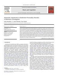 Autonomic impairment in Borderline Personality Disorder: A ...