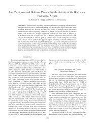 Late Pleistocene and Holocene Paleoearthquake Activity of the ...