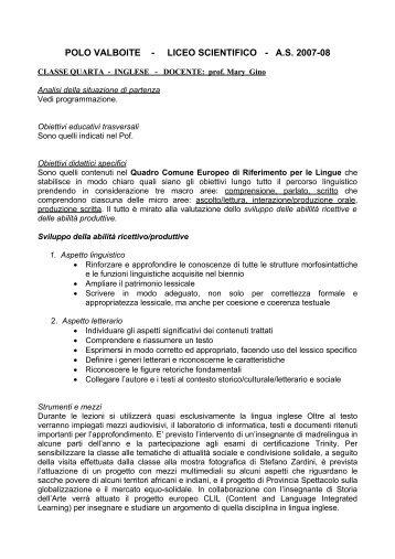 POLO VALBOITE - LICEO SCIENTIFICO - A
