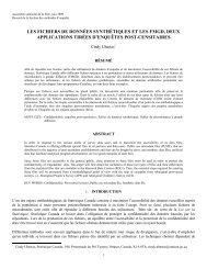 les fichiers de données synthétiques et les fmgd, deux applications ...