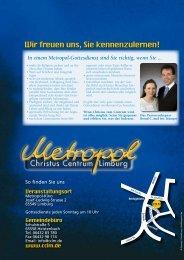 METROPOL News - Christus Centrum Limburg
