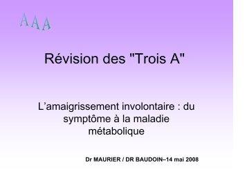 """Révision des """"Trois A"""" - ammppu"""