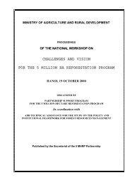 Challeges and Vision for the 5Million Ha Reforestation Program