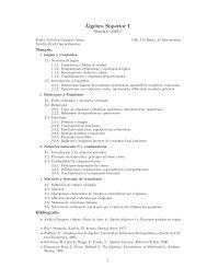 Temario - Departamento de Matematicas