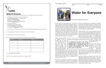 Water for Everyone - iMAG