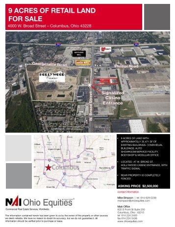 9 ACRES OF RETAIL LAND FOR SALE
