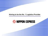 Aiming to be the No.1 Logistics Provider [PDF ... - Nippon Express