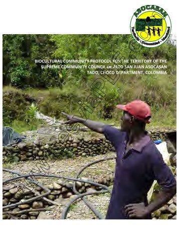 Biocultural community protocol Alto San Juan - Natural Justice