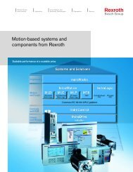 Motion Based Systems Catalog - Bosch Rexroth