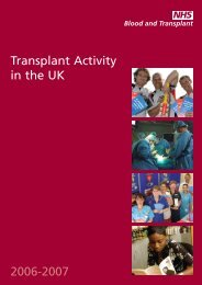 UK Activity Report 2006-2007 - Organ Donation