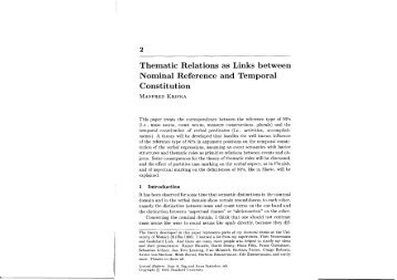 Thematic Relations as Links between Nominal Reference and ...
