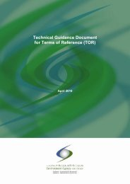 Technical Guidance Document for Terms of Reference (TOR)