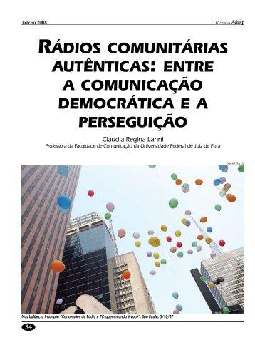 rádios comunitárias autênticas: entre a comunicação ... - Adusp