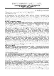 Informativa trattamento dati - Icvillalagarina.it