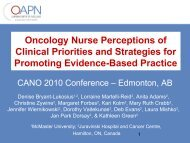 Oncology Nurse Perceptions of Clinical Priorities and Strategies for ...