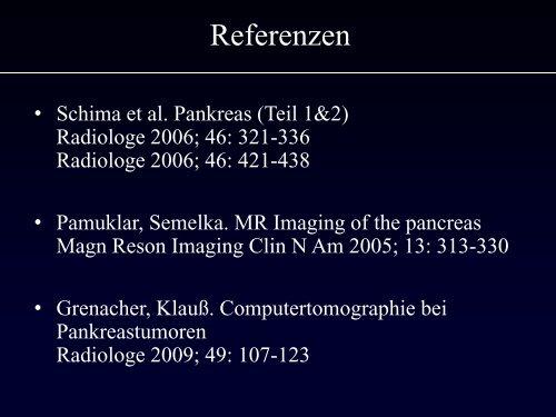 Pankreasdiagnostik Stellenwert der einzelnen Verfahren