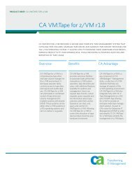 CA VM:Tape for z/VM r1.8 Product Brief