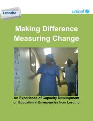 Making difference, measuring change: an ... - PreventionWeb