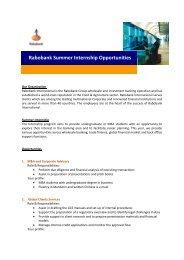 Rabobank Summer Internship Opportunities - Career Planning and ...