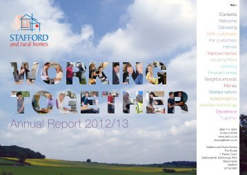 Annual Report 2012/13 - Stafford and Rural Homes