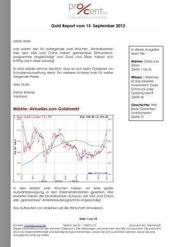 Gold Report vom 15. September 2012 Märkte ... - CelticGold.eu