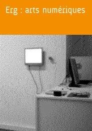 Arts Numeriques - Erg (Ecole de Recherche ... - Multimedialab