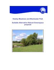 Hawley Meadows and Blackwater Park Suitable Alternative Natural ...