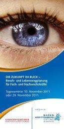 DIE ZUKUNFT IM BLICK – Berufs- und Lebenswegplanung für Fach ...