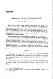 TUBERKULOZDA CERRAHl TEDAVl ENDlKASYONLARl