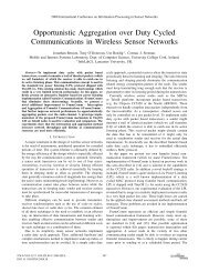 Opportunistic Aggregation over Duty Cycled Communications in ...