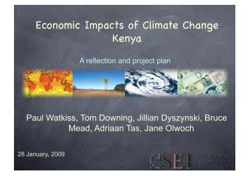 Economic Impacts of Climate Change Kenya - weADAPT