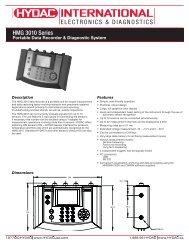 Download HMG 3010 Data Sheet - HYDAC USA