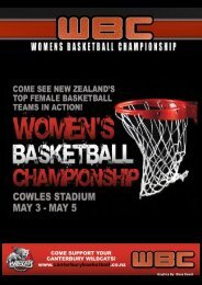 2013 WBC Programme – Christchurch - Basketball New Zealand