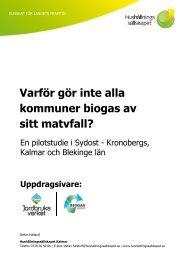 Varför gör inte alla kommuner biogas av sitt matavfall?