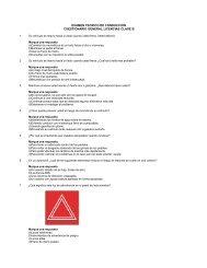 examen teorico de conduccion cuestionario general licencias clase b