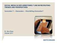 Social Media in der Arbeitswelt und im Recruiting - wbv-Fachtagung