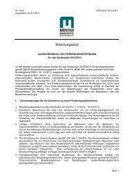 Ausschreibung von Förderstipendien für das Studienjahr 2012-2013 ...