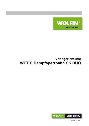 Verlegerichtlinie WITEC Dampfsperrbahn SK DUO