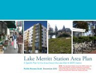 Lake Merritt Station Area Plan - City of Oakland