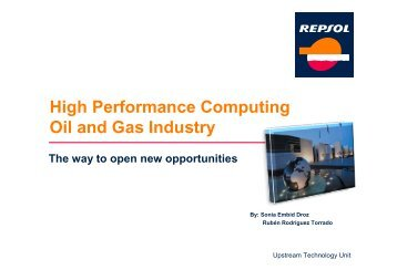 High Performance Computing Oil and Gas Industry